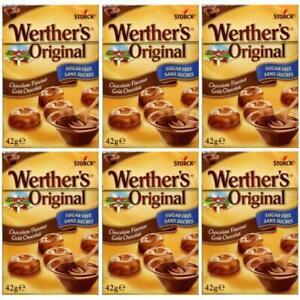 (SIX PACKS) Werthers Original Chocolate Flavour Sugar Free 42g