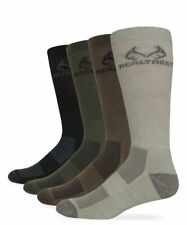 Realtree Outfitters Mens Outdoor Moisture Wicking Tall Boot Crew Socks 2 Pair