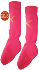 Puma Youth Soccer Shin Guards Pink Size Xs/S Closed Toe New