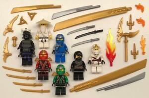 7 Lego Ninjago Minifigs Lot: figures ninja Zane Cole Jay Kai Sensei Wu Lloyd