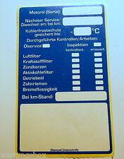 2x Serviceaufkleber - Wartungs - Inspektionsaufkleber - Kfz- Inspektion Ölzettel