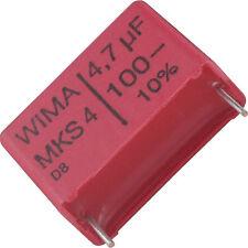 4 St. Wima MKS4 Folienkondensator 4,7µF 100V 22,5 Rohs konform Frequenzweiche