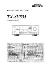 Onkyo TX-SV535 Tuner Owners Manual