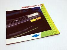 1987 Chevrolet Beretta Brochure