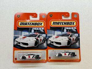 MATCHBOX 2021 LAMBORGHINI GALLARDO POLICE COLLECTOR NO. 69/100 LOT OF 2
