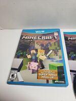 Minecraft: Wii U Edition (Nintendo Wii U) cib complete game free shipping!