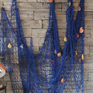 New Nautical Fishing Net Seaside Wall Beach Party Sea Shells Home Garden Decor
