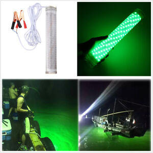 """Portable 12.2"""" 12V 30W LED Green Underwater Submersible Waterproof Fishing Light"""