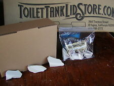 Chip Samples to identify Kohler Toilet Tank Lid Colors Almond, White,& Biscuit