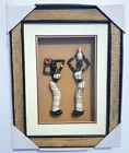 Contemporary African Art Frame Featuring Women Figurines
