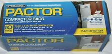 STEELCOAT Pactor White Compactor Bags w/ Ties  10 Ct