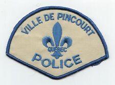 Ville de Pincourt Police, Quebec, Canada HTF Vintage Uniform/Shoulder Patch