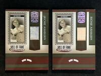 RICHIE ASHBURN 2005 Donruss Greats HALL-OF-FAME SOUVENIRS LOT OF 2 (PANTS/BAT)!!