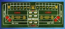 Las Vegas Craps Table Felt Layout
