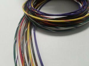 ul1007 1007 18 AWG Gauge Stranded Hook Up Wire W STRIPE Kit 5 ft Ea 8 Color 300V