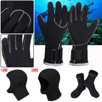 3MM Neoprene Swim Swimming Scuba Snorkeling Diving Gloves/Cap/Socks Equipment