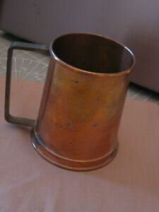 VINTAGE BRASS AND COPPER TANKARD