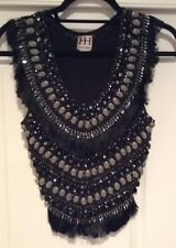 Haute Hippie Sleeveless Embellished Crop Top in Size S