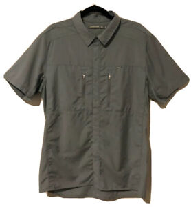 Icebreaker Merino Wool 'Oreti' Vented Short Sleeve Shirt Men's Sz L