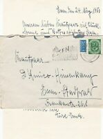 Germany 1953 Essen Cancel Obligatory Tax Aid for Berlin Stamps Cover Ref 28099