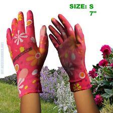1 x Pair SIZE S Ladies Gardening Garden Gloves Coat Palm Green Floral Pattern
