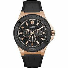 Armbanduhr Guess Herren Chronograph Quarz Uhr Leder Armband W0674G6 Modeschmuck