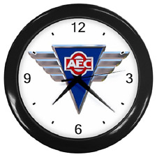 AEC SILVER WINGS CLOCK BUS COACH TRUCK BADGE REPRO WALL CLOCK **GREAT ITEM**