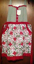 New listing Cynthia Rowley Poinsettia Apron Women's Christmas Holiday 100% Cotton New Red