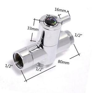 """New Brass G1/2"""" T-adapter valve Diverter for Hand Held Shower Head Toilet Bidet"""