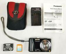 Panasonic Lumix DMC-ZS10 / DMC-TZ20 Black 14MP 16x Camera Battery Charger 4GB SD