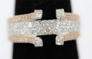 AUTHENTIC HEAVY PLATINUM & ROSE GOLD 1CTW DIAMOND ENGAGEMENT SEMIMOUNT FOR 1.25+