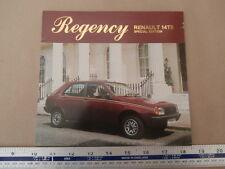 1981 RENAULT 14 TS REGENCY Special Edition - FOLDER BROCHURE