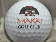 (1) MAKAI GOLF CLUB GOLF COURSE LOGO GOLF BALL