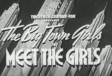 MEET THE GIRLS (1938) DVD JUNE LANG, LYNN BARI