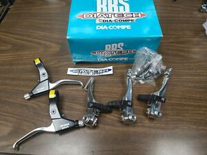 Dia-Compe DP7n bicycle brake levers Vc757 v-brake arms aluminum silver