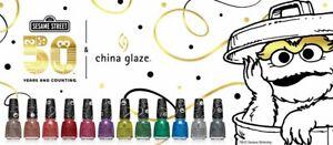 China Glaze Sesame Street Holiday Collection 15 mL Yellow Blue Purple