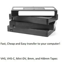Video Tape Transfer Service to your computer! Flat Rate Shipping! VHS and more!