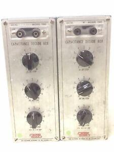2x Vintage EICO (Electronic Instrument Co) Model 1180 Capacitance Decade Box