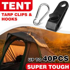 20/40PCS Tarp Clips Hangers Thumb Screw Camping Tent Clamps Lock Grip Heavy Duty