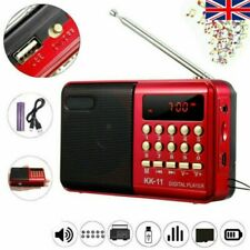 More details for small digital usb tf fm radio receiver speaker rechargeable mp3 music player uk