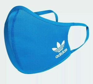 1 BLUE BIRD - Adidas Face Mask Cover Size M/L Large -