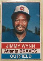 1975 Hostess Jimmy Wynn Hand Cut Baseball Card #129 Braves Low Grade