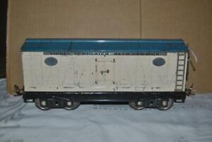 Original Prewar LIONEL No. 214R REFRIGERATOR CAR - Standard Gauge – WH / LT BLUE