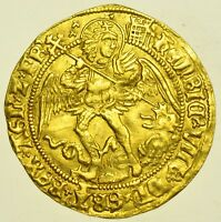 HENRY VIII (1509-26), ANGEL, mm. PORTCULLIS CROWNED, BRITISH GOLD HAMMERED COIN