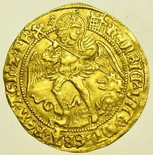 HENRY VIII (1509-26), ANGEL, mm. PORTCULLIS CROWNED, BRITISH GOLD HAMMERED COIN