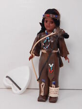 CARLSON DOLL, Native American Indian Hunter #12-1 w/ Bow, Leg Tag, Stand, VNice!