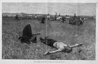 APACHE INDIANS CAMP SOLDIER PRISONER STAKED OUT TORTURE APACHE TEEPEE HISTORY