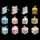 Baby Shower Pattern Gift Candy Treat Boxes Wedding Party Favor Boy Girl NEW