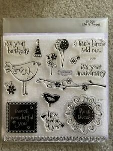 Close To My Heart (CTMH) Life Is Tweet Stamp Set (New) S1206