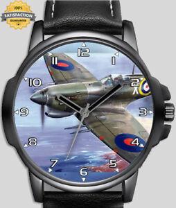 Spitfire Retro World War Fighter Plane Unique Beautiful Wrist Watch Fast Post